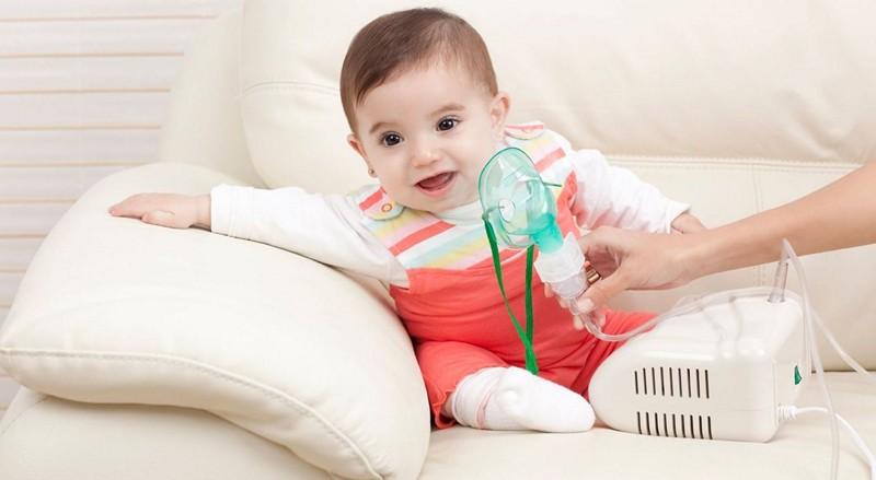 Ингаляции детям при помощи нибулайзера