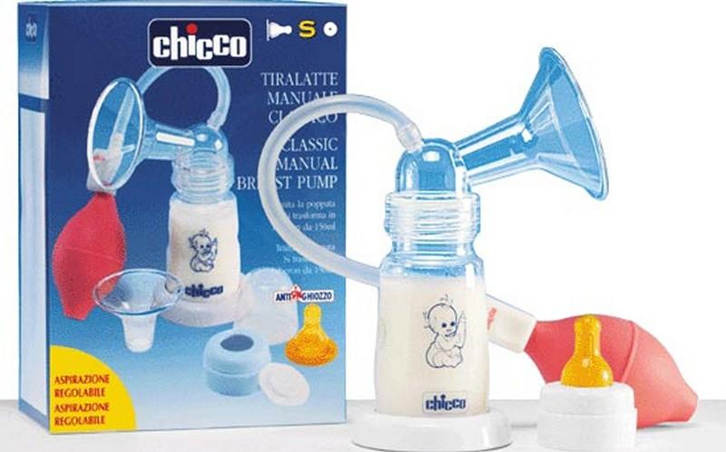 Молокоотсос Chicco помповой с бутылочкой
